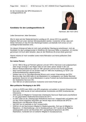 1 Kandidatur für den Landtagswahlkreis 28 - SPD-Ortsverein List-Süd