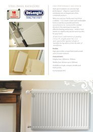 STEEL PANEL RADIATORS - Hunt Heating