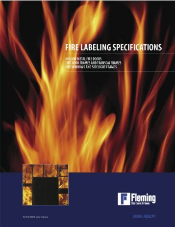 Fleming Fire Labeling Specifications - Steel Dor of Tucson