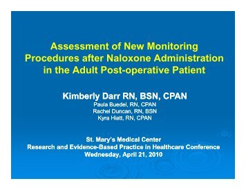 Assessment of New Monitoring Procedures after Naloxone ...