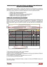 instructivo para el envío y recepción de los formatos complementarios