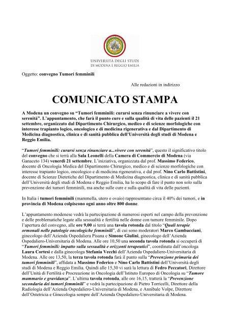 convegno federico battistini 21-09-2012 - Policlinico di Modena