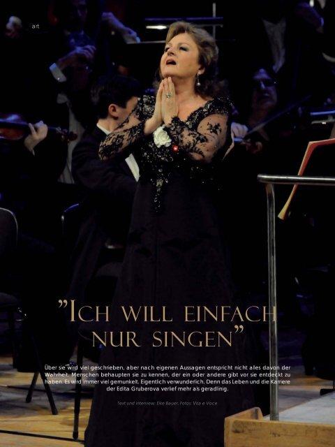"""Page 1 98 HARVEST 1.2012 art """"ICH WILL EINFACH NUR SINGEN ..."""