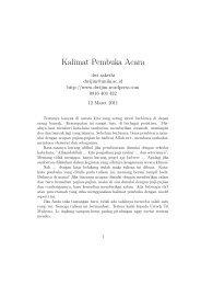 Kalimat Pembuka Acara - Weblog-e Dwi Sakethi