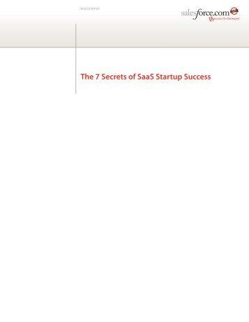 The 7 Secrets of SaaS Startup Success - Salesforce.com