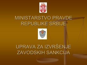 ministarstvo pravde republike srbije uprava za izvršenje zavodskih ...