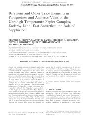 Beryllium and Other Trace Elements in Paragneisses and Anatectic ...