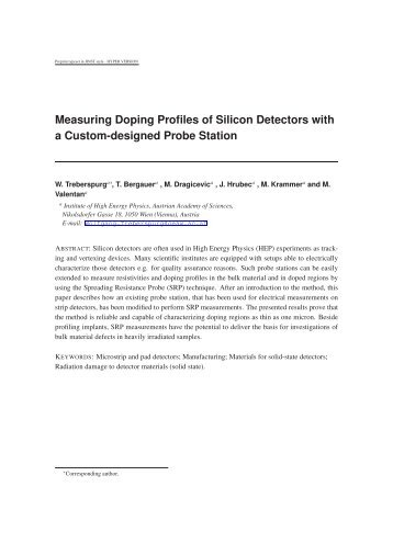 Measuring Doping Profiles of Silicon Detectors with a ... - HEPHY