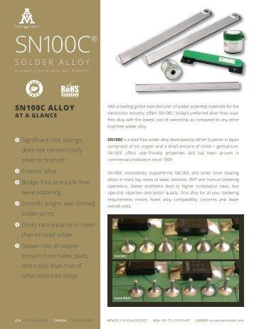 SN100C Brochure - AIM Solder