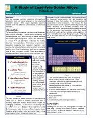 A Study of Lead-Free Solder Alloys - AIM Solder