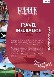 Download a PDF brochure for Sportscover Travel Insurance.