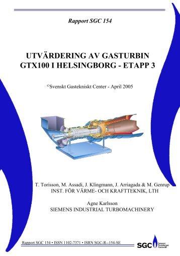 utvärdering av gasturbin gtx100 i helsingborg - etapp 3 - SGC