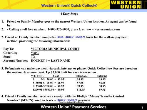 Western Union® Quick Collect - the City of Victoria