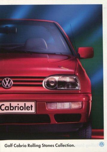Golf Ccbrio Rolling Stones Collection. - Volkswagen Classic