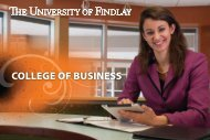 COLLEGE OF BUSINESS - The University of Findlay
