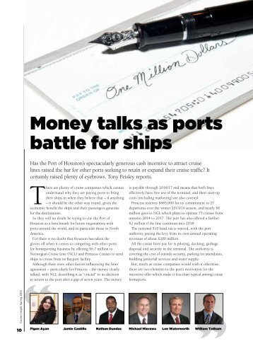 Money talks as ports battle for ships - Ashcroft & Associates