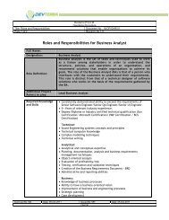 Roles and Responsibilities for Business Analyst