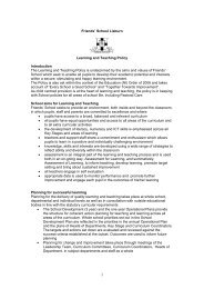 Friends' School Lisburn Learning and Teaching Policy Introduction ...