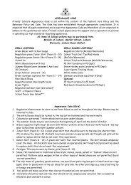 Appearance Code 2013 - Friends' School Lisburn