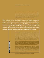 Making Choices About the Study of Graphic Design - National ...