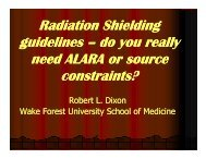 How do ALARA, and/or ICRP - Radiation Shielding for Medical ...