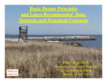 Basic Design Principles and Latest Recommended - Radiation ...