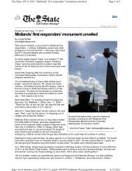 Midlands' first responders' monument unveiled - Dennis Corporation