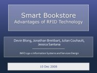 Smart Bookstore - Design for Service Research, patterns and ...