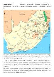 Afrique du Sud 1 f Superficie : 108'000 ha – Production : 8 ... - Cave SA