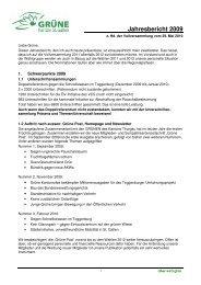 Jahresbericht 2009 - Grüne Kanton St. Gallen