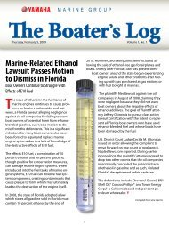 Boater's Log - Yamaha