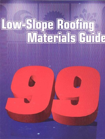 Information on Low-Slope Membrane Products - National Roofing ...