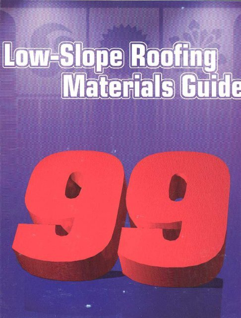 Information on Low-Slope Membrane Products - National