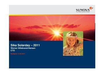 Sika Solarday - Sunova - 2011