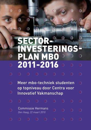 Sector Investeringsplan MBO - SSO