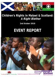 Children's rights in Malawi and Scotland EVENT REPORT