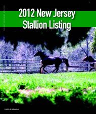 photo by jon kral - Thoroughbred Breeders' Association of New Jersey