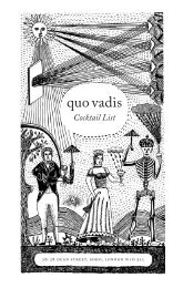 Cocktail list download - Quo Vadis