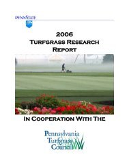 2006 Turfgrass Research Report - Plant Science - Penn State ...