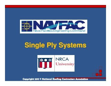 Single Ply Systems Single Ply Systems - National Roofing ...