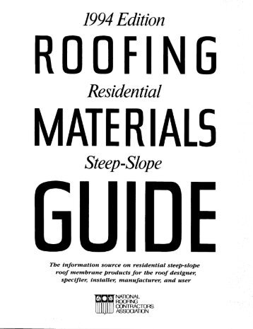 Steep-Slope - National Roofing Contractors Association