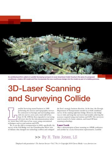 3D-Laser Scanning and Surveying Collide - Business Resource ...