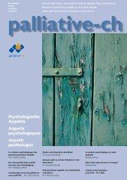 Le soutien psychologique en soins palliatifs - Palliative ch