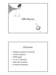 MRI Physics Overview