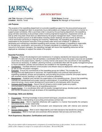 Quality Engineer Job Descriptions
