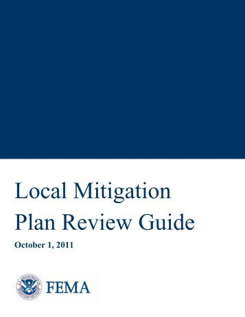 2011 Local Mitigation Plan Review Guide