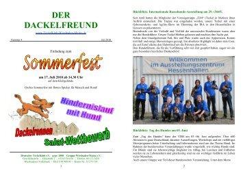 Der Dackelfreund - Nr. 4/2010 - Teckelklub Wiesbaden/ Mainz
