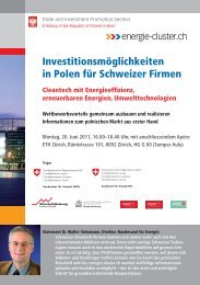 Flyer - Sustainable Engineering Network Switzerland