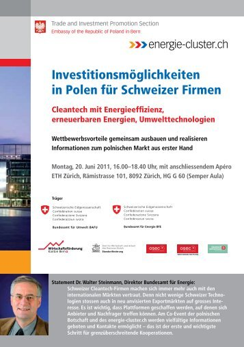 Flyer - Sustainable Engineering Network Switzerland