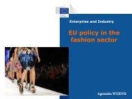 EU policy in the fashion sector - Crea.re